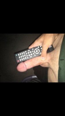 Average boring penis tries remote control challenge
