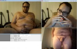 fatty loser get high on popper and ready for all