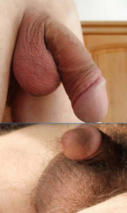 My tiny dong under a big one