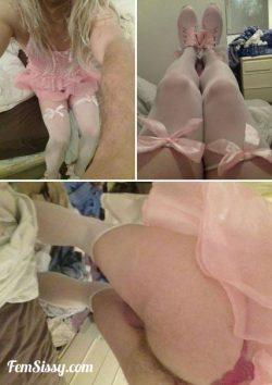 Sissy boy's pretty pink collage