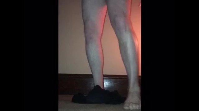 Male CBT Slave Made to Dance and Tug It