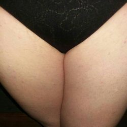 Sissy in black panties.