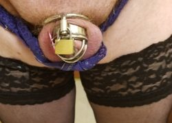Feminine acorn clitty caged with pink heart charm