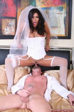 New bride face rides and shows husband his place