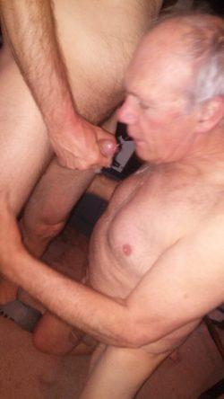 Joanne Cole showing her gay faggot Richard Holmes sucking cock