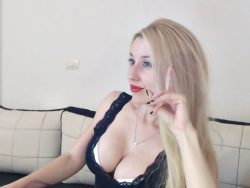 Blonde mistress makes you jerk your small penis