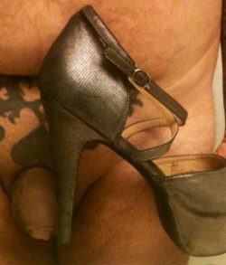 Women wear bigger heels than this sissy's small clitty dick