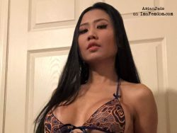 Asian Domina turns men into sissy sluts on webcam