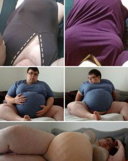 Dumb sissy slut dressing up like she is pregnant
