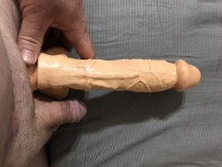 Soft & hard compared to her dildo….