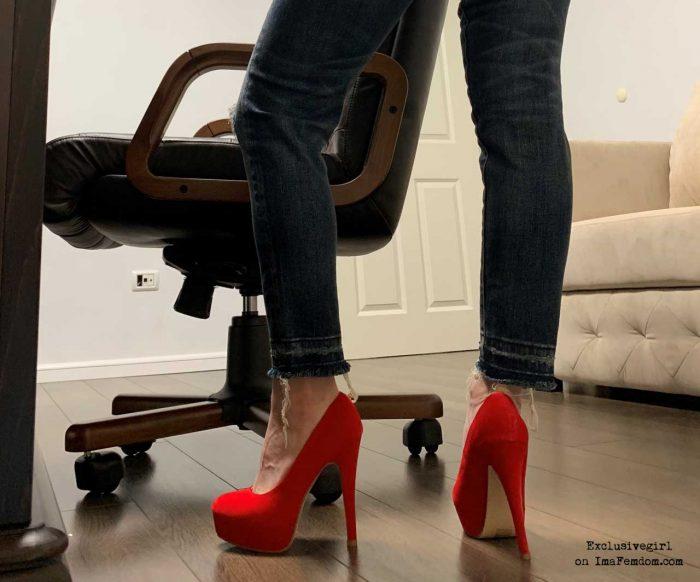 If my high heels are longer than your boner