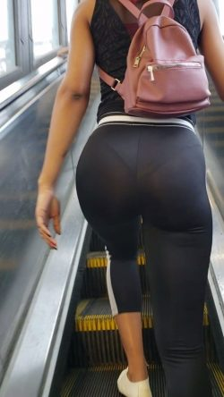 Escalators are great for panty line peeking