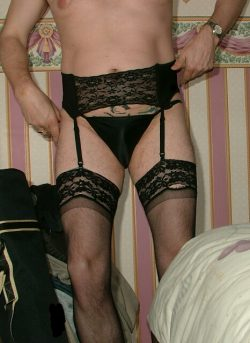 I love wearing Stockings and suspenders