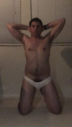 Barely a bulge and begging for humiliation