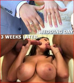 Marrying a slut: 3 weeks later