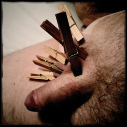 Clothespins punishment