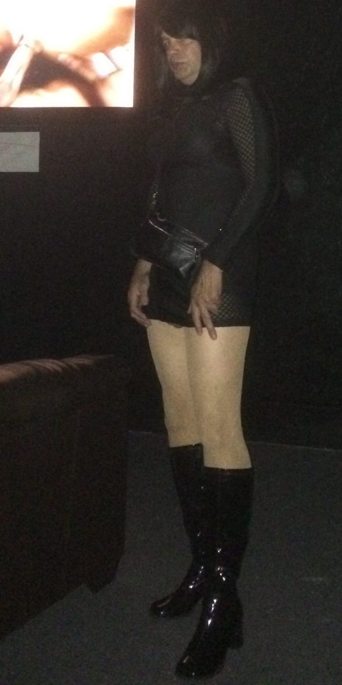 Sissy at the theater looking for cock