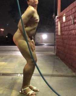 Sissy offers free car washes for anyone that flashes their cock