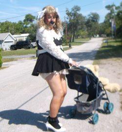 ALWAYS a sissybaby…..