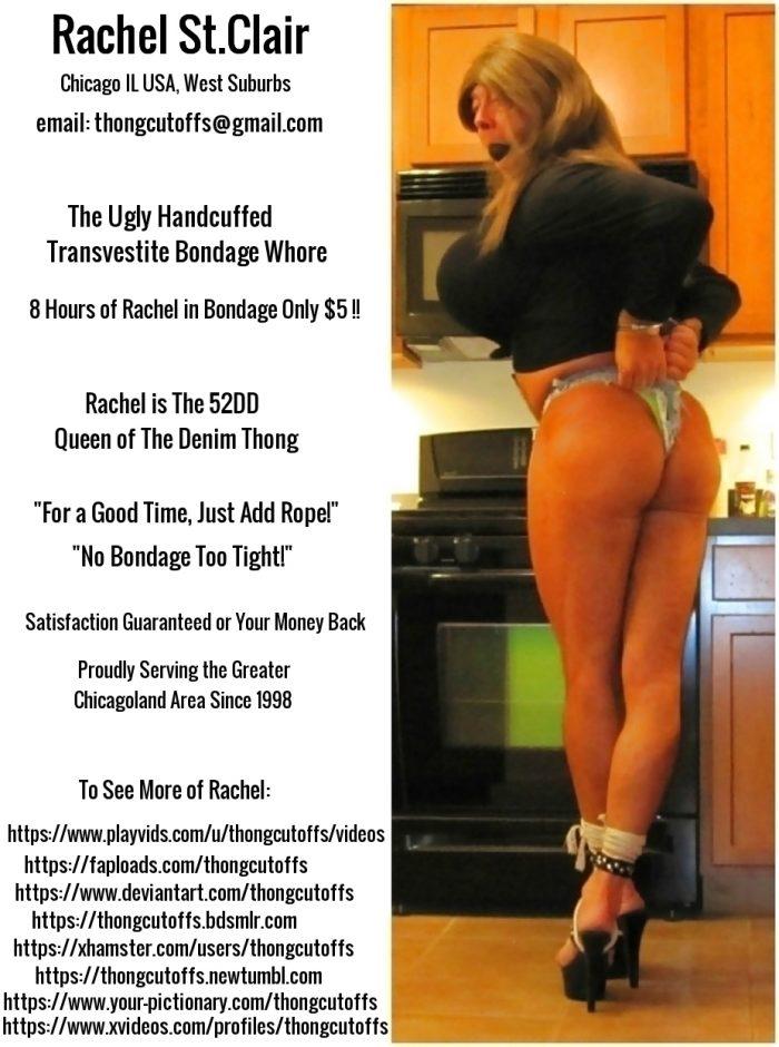 The Ugly Handcuffed Transvestite Bondage Whore