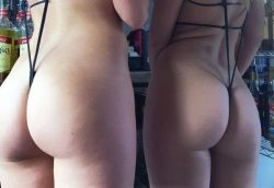 Two hot amateur butts