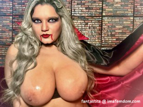Busty Vampiress that knows just how to handle micro cocks