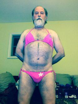 Bearded sissy bikini boi lol