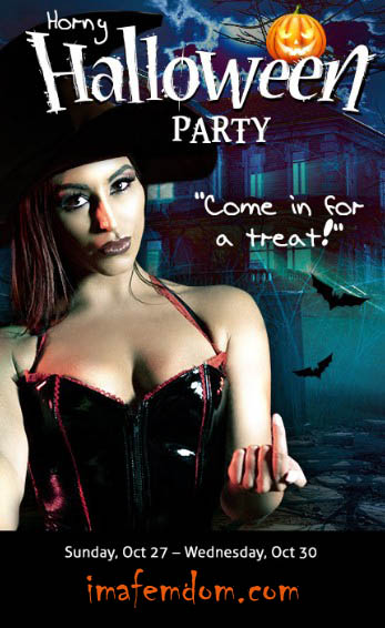Horny Halloween Party Streaming Live Starting 10/27