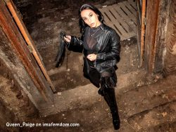Your latex dominatrix always keeps you in line