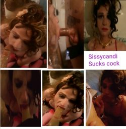 Sucking cock with Sissycandi!!