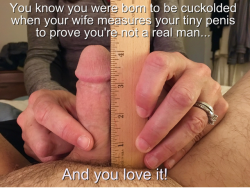 When your wife measures your tiny dick..