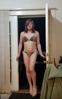 Denver like totally busted in her bimbo bikini