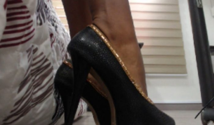 Get your sissy ass worshiping my superior ebony feet