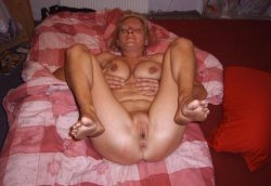 Wonderful Milf naked at home