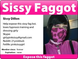 Help expose this sissy fag boi