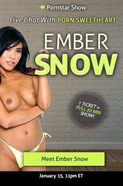 Ember Snow will streaming live on 1/15