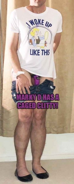 Marky Dee has a caged clitty