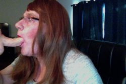 Sissy Slut Cindy loves training her whore mouth for cock
