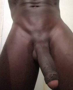 Uncut thick black cock