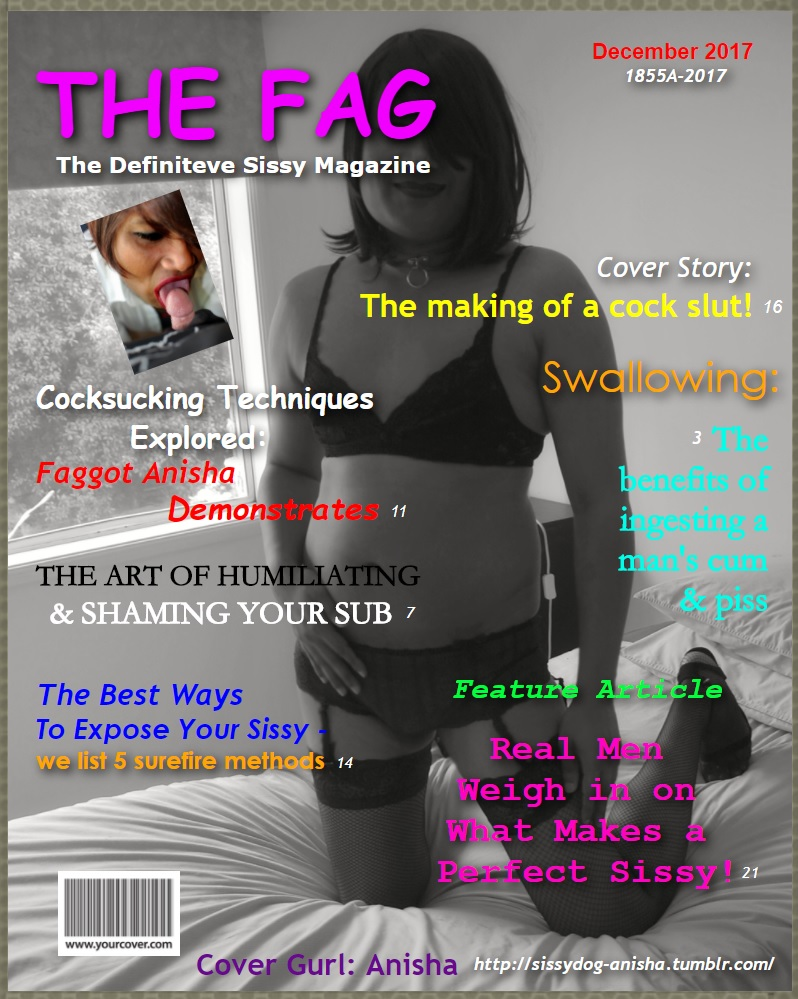 Sissy captions and magazine covers of me for you to spread, share, repost and expose!