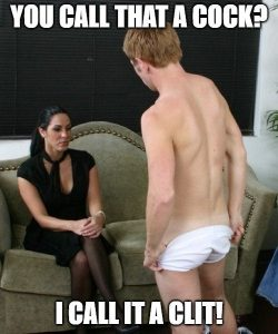 You call that a cock? (SPH Captions) (repin) – Actually, so do I!