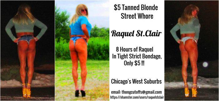 Raquel St.Clair the Tanned Blonde Bondage Street Whore