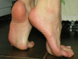 Sniff these sweaty soles and inhale that womanly fragrance