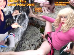 Tiny erect micropenis femboy! Hairy pussy baby dick whore! small cock crossdresser! Tiny little  ...