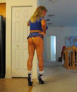 Raquel St.Clair in a Schoolgurl Microskirt