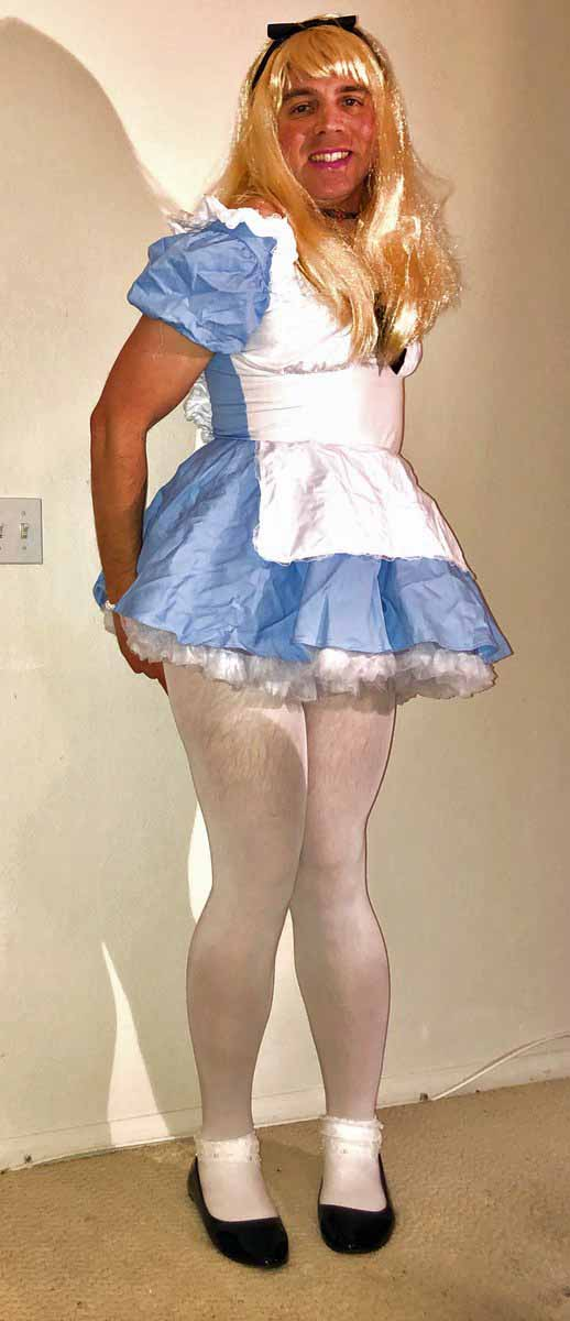 Sissy blondes have more fun… Especially when you get to dress up like Alice in this cute d ...