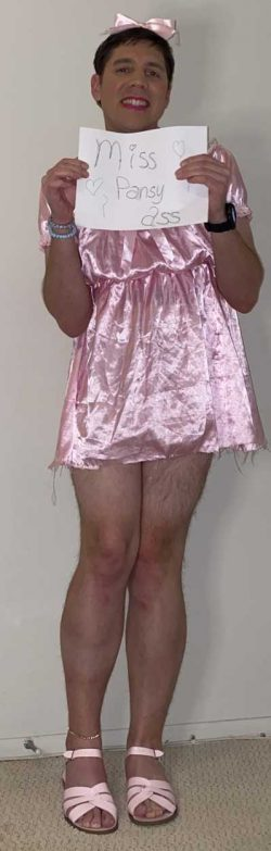 Satin sissy bitch just had to get this posted