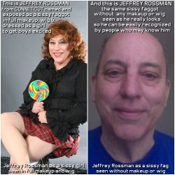 Jeffrey Rossman from Connecticut seen as the sissy fag he really is