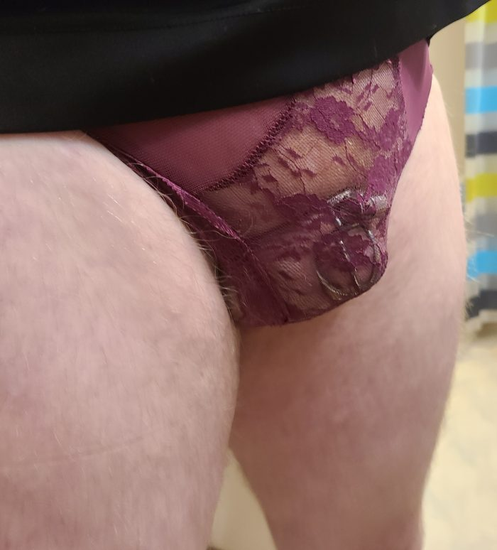 clitty locked.. pantys on.. just waiting for a fat cock to fill my sexy sissy ass