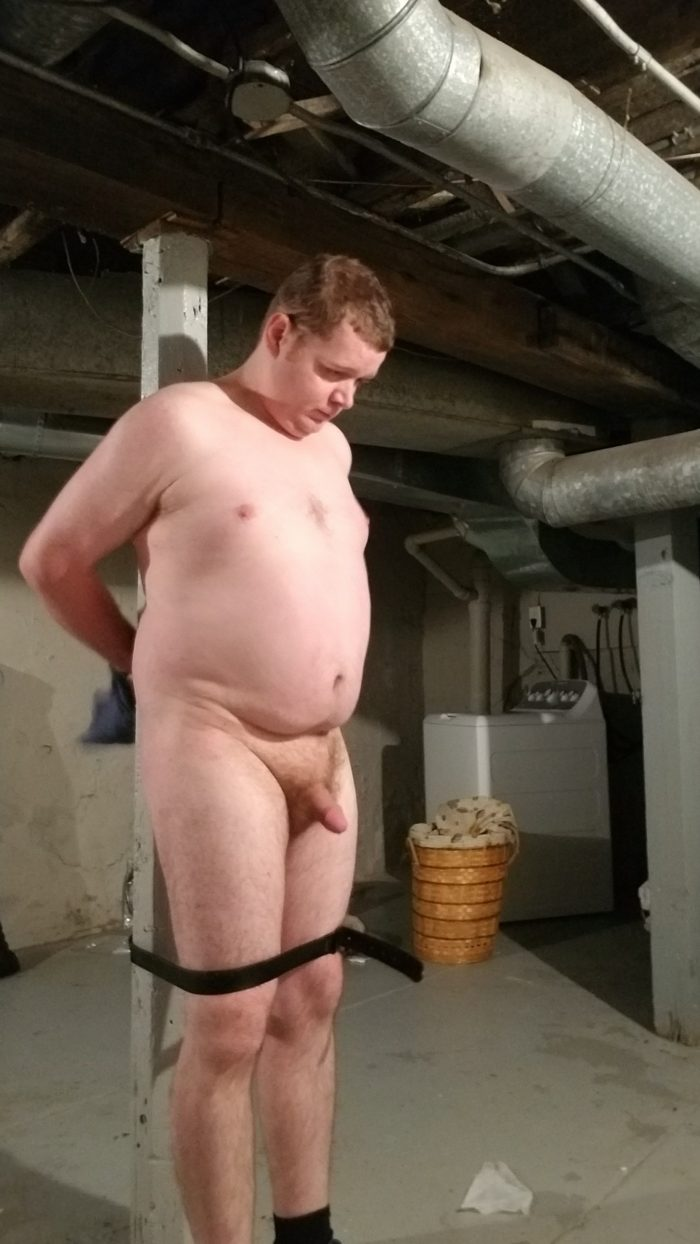 chubby boy tied up in basement